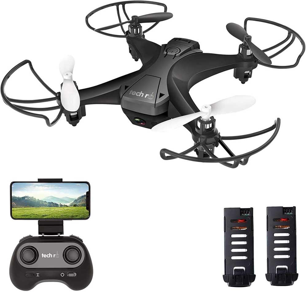 Mini dron Tech RC Negro