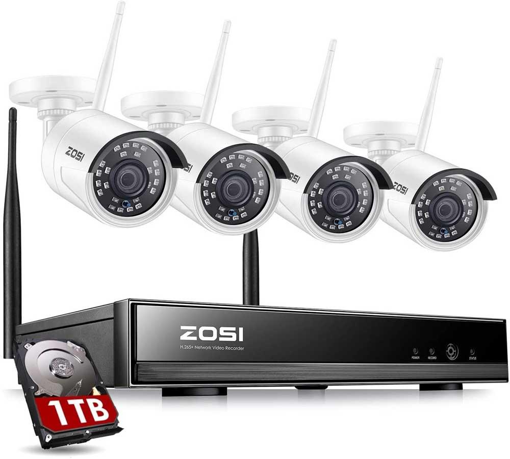 Cámara de vigilancia WiFi ZOSI Z-4CH-W